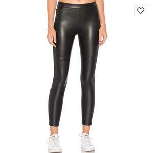 Free People Pants - Free People Vegan Black Leather Leggings NWT 28